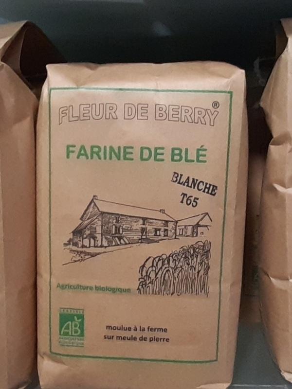 Farine de Blé Fleur du Berry à  Aigurande (paquet de 1kg)