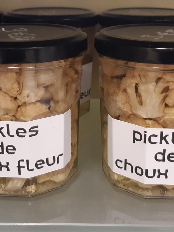 Les Bocaux de Caro- Pikles de choux Fleur (poids total de 500g)