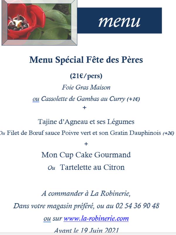 Menu de Fete des Peres 24€/pers