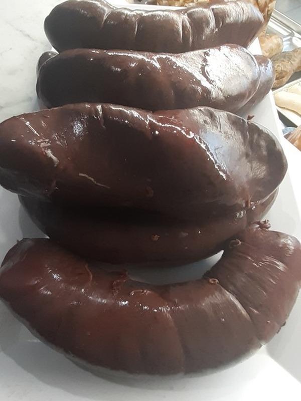 Boudin noir artisanal (vendu par 500g, soit environ 3-4 parts)